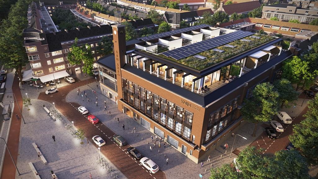 Ontwerp Bedrijfsverzamelgebouw met dakopbouw Scheldeplein Amsterdam